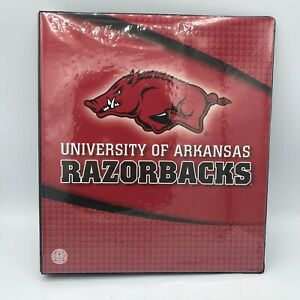 University Of Arkansas Razorbacks 3 Ring Trapper Keeper Binder Official License