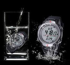 Wasserdichten Outdoor Sport Herren Digital LED Quartz Alarm Date Armbanduhr