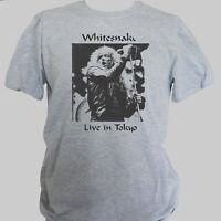 WHITESNAKE ROCK METAL T-SHIRT unisex grey S-3XL
