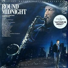 ROUND MIDNIGHT Herbie Hancock CHET BAKER Dexter Gordon VINYL LP 1986 Soundtrack