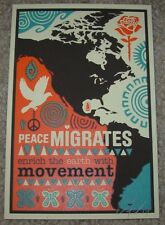 ERNESTO YERENA Silkscreen Print PEACE MIGRATES Handbill poster shepard fairey