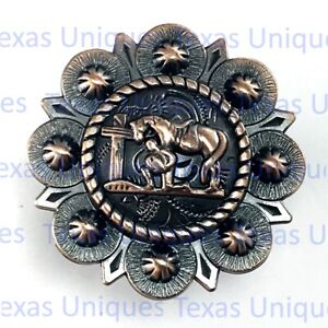 God of wealth Leather Conchos East Religious  \u201cRich in life\u201d Concho For Leather Craft Decoration