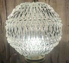 "Vintage Deep Cut Crystal Globe Ball Pendant Round Chandelier Ceiling  10"""