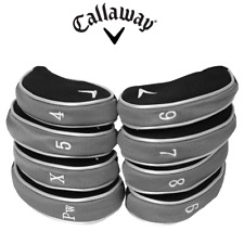 Callaway Golf Iron Headcovers  Set of 9 GENUINE covers protect your golf clubs
