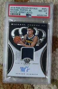 Michael Porter Jr RPA /199 -- 2018 Crown Royale Rookie Jersey #RJA-MPJ -- PSA 8