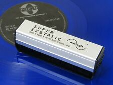 ♫ DOUBLE BROSSE CARBONE+BROSSE VELOURS SUPER EXSTATIC nettoyage disque vinyle ♫