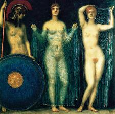 Franz von Stuck 23 Die drei Göttinnen Büttenfaksimile ATHENA HERA APHRODITE