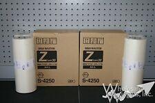 4 Genuine Riso Brand S-4250 Master Rolls Risograph OEM Z Type Masters RZ EZ