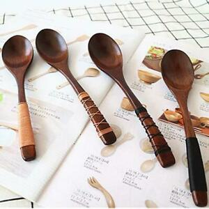 Natural Spoon Soup Dinner Spoon Flatware Tableware Utensils Rice Dessert W