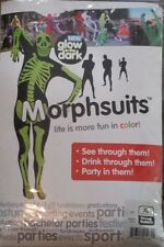 GLOW IN THE DARK SKELETON  Morph Original Morphsuits party costume XL size