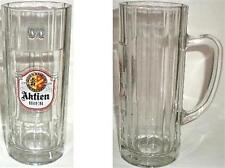 BEER DRINKING GLASS TALL MUG AKTIEN BIER KAUFBEUREN