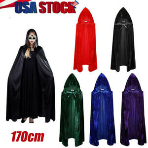 NTQFY Octopus Halloween Cloak Fancy Hooded Cape with Drawstring Adult Cool Witch Robe Extra Long 59 Party Cape Black