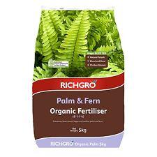 Richgro ORGANIC FERTILISER 5kg Certified, Palm & Fern Mega Booster Aust Brand