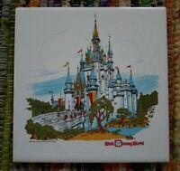 Vtg WDW Cinderella's Castle Hanging Tile Tivet ~ 1971 Great Disney Americana