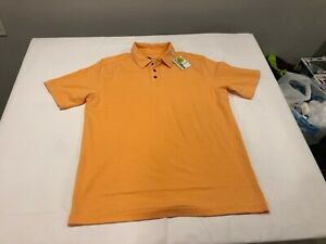 NWT $98.50 Nicoby Mens SS Polo Orange Size LARGE