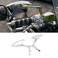 Motorcycle Blade Side Mirrors Custom 8mm 10mm Chrome For Victory Hammer Cruiser