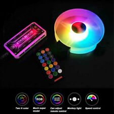 LED RGB Quiet Computer Case PC Cooling Fan 120mm with Remote Control