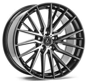 "20"" Axe EX40 Alloy Wheels 5x120 WIDER REAR Black MF fits VW Transporter T5 T6"