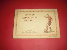 1934 JOHN PLAYER TOBACCO CARDS HINTS ON ASSOCIATION FOOTBALL FULL COMPLETE ALBUM