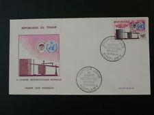 meteorology world day telegraph FDC Chad 50706