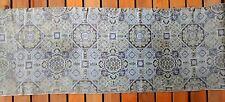 Antique Silk Woven Medallion Table Runner Dresser Scarf