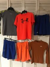 LOT UNDER ARMOUR ATHLETIC CLOTHING LOT - YOUTH MEDIUM - SHIRTS SHORTS LS SS GUC