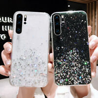 For Huawei P30 Pro P20 Mate 20 Lite Glitter Star Epoxy Clear Silicone Case Cover