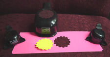 Stampin' Up lot of 3 paper shapers punches, corner photo, scalloped circle whale