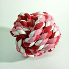 large rope ball dog pitbull bite toys resistant aggressive chew training play