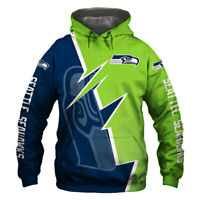 Seattle Seahawks Hoodie Hooded Pullover S-5XL Football Team Fans NEW Designs