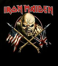 IRON MAIDEN cd cvr The Trooper CROSSED FLAGS Official SHIRT MED new