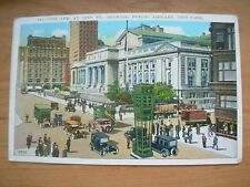 VINTAGE POSTCARD U.S.A.- 5th AVE AT 42nd ST PUBLIC LIBRARY NEW YORK Ref 2121