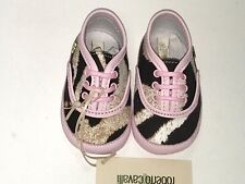 Cavalli New BABY Girl SUEDE ANIMAL PRINT SNEAKERS 16 EU/ 1 US RTL $225 Y500 O317