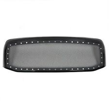 06-08 09 Dodge Ram 1500 2500 3500 Black Rivet Style Wire Mesh Grill Grille Shell
