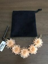 J.Crew Petal Blossom Bracelet In Faded Teak New With Tags RP $48.00