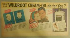 Wildroot Cream-Oil Hair Tonic Ad: What Can It Do For You! from 1940's-50's