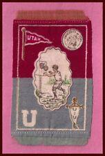 VINTAGE University of Utah Utes Tobacco Silk / Felt BASKETBALL!  SHARP!
