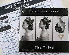 KITTY DAISY & LEWIS CD The Third UK Digi-Pack + Promo Info Sheet SEALED 2015