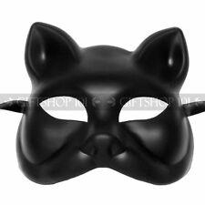 Plain Black Craft Unpainted Venetian Cat Masquerade Mardi Gras Party Women Mask