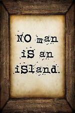 No Man Is an Island : A 6 X 9 Lined Journal Notebook by S. O. S.O. Good...