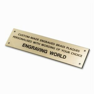203mm x 51mm Brass Personalised Engraved Plaque Sign