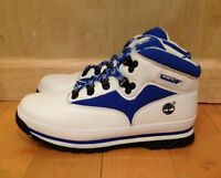 TIMBERLAND EURO HIKER BOOTS WHITE BLUE VINTAGE GS KIDS YOUTH SZ 4-7 Y  94972