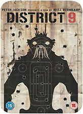 DISTRICT 9 LIMITED EDITION TIN CASE STEELBOOK DVD Sharlto Copley UK Rel New R2