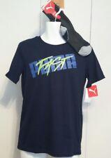 NEW NWT L 14-16 Large PUMA Boys T-Shirt & Sock Set Deep NAVY Puma Fast Tee Socks