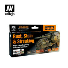 VALLEJO MODEL COLOR - RUST, STAIN & STREAKING (8 x 17ml BOTTLES) - 70183