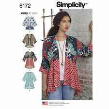 Simplicity 8172 Paper Sewing Pattern Misses Size 4 -26 Kimonos EASY to Sew