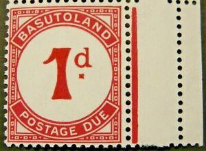 BASUTOLAND 1951-52 SG D1b. POSTAGE DUE  - DEEP CARMINE -  MNH