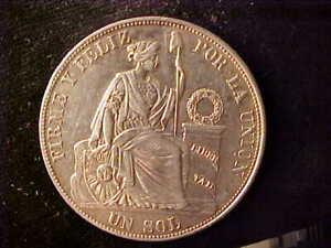 PERU ONE SOL 1884RD