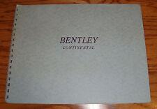 Original 1960s Bentley Continental Spiral Bound Deluxe Sales Brochure 60 61 62