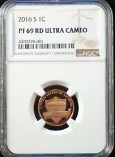 2016 S 1C - NGC PF 69 RD - Lincoln Shield Cent Proof - Ultra Cameo - Brown Label
